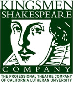 Kingsmen Shakespeare Company, The PRofessional Theatre Company of California Lutheran University logo