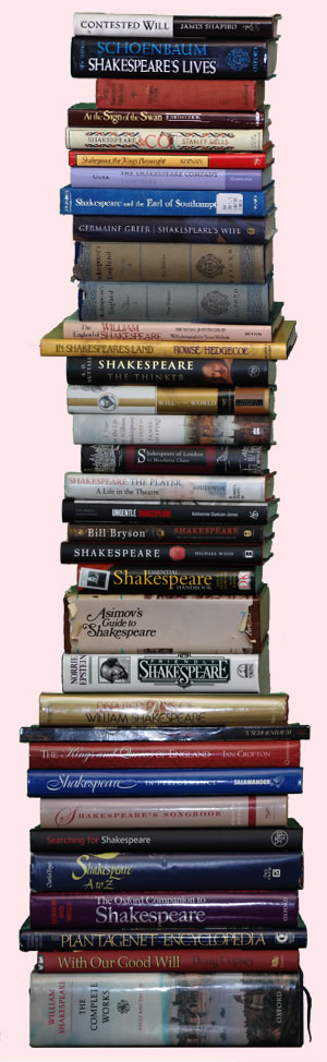 Stack of Shakespeare books