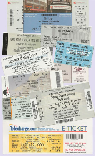 Montage of tickets